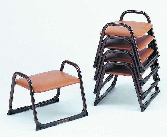 【アルミ製】 アルミスツールL-2【5脚セット】 寺院用椅子 本堂用 寺院 スツール 積み重ね スタッキング