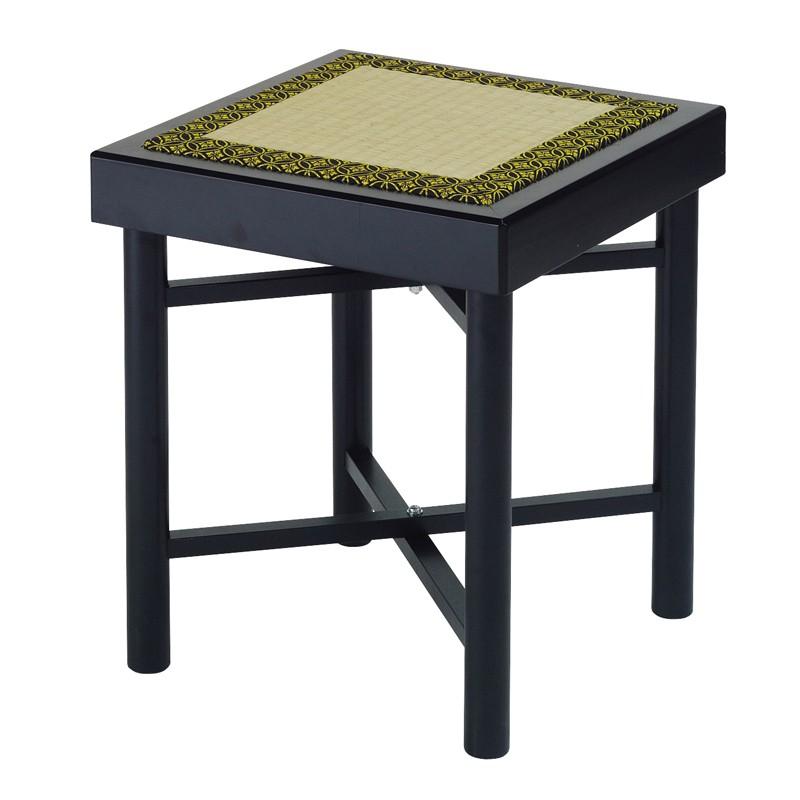 【エントリーで更にポイント5倍実施中】折畳式組立椅子 黒真塗・正角形 日本製 (7430-0300)