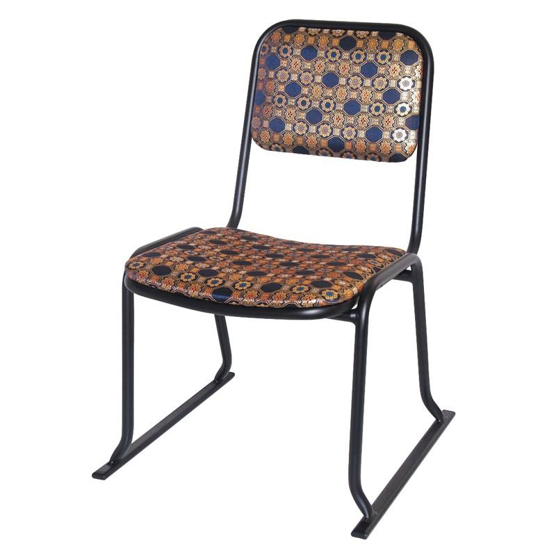 本堂用お詣り椅子 金襴 アルミ 日本製 (0612-3500)