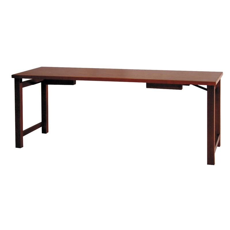座卓兼用型接客机 板バネ式 アーム金具付 欅調 日本製 (1943-6000)