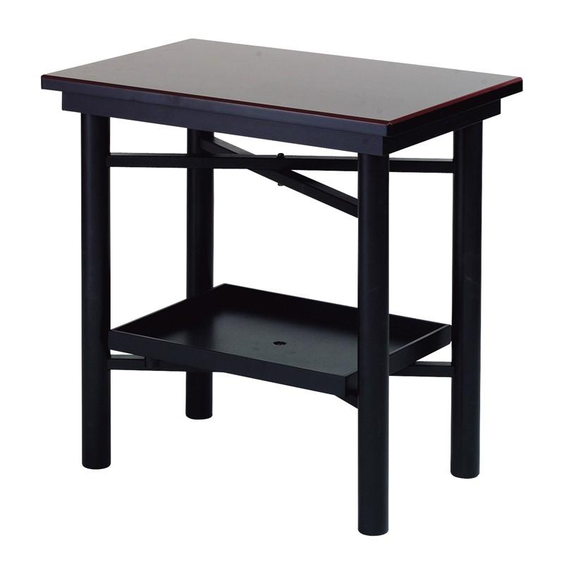 【エントリーで更にポイント5倍実施中】折畳式組立机 置台付 2尺黒塗面朱 日本製 (7431-2000)