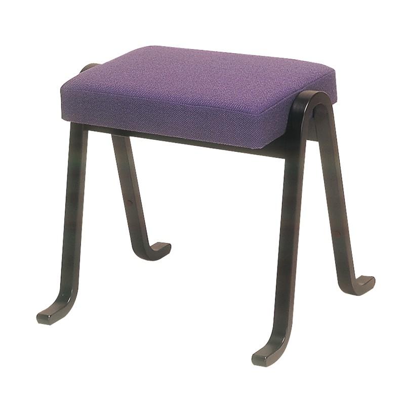 雲居型胡床 黒塗紫布 日本製 (6600-1100)
