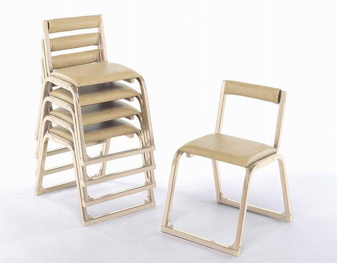 【アルミ製】 本堂椅子【香色】背付き大寸】5脚セット寺用 寺院用 和室設備 お座敷用チェア