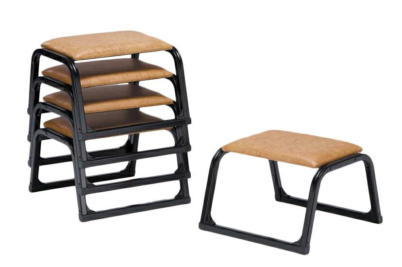 【エントリーでポイント10倍】【アルミ製】 本堂椅子最軽量 小寸 5脚セット畳の上で使える 和室 お座敷用チェア 背もたれなし 本堂椅子 黒色 寺用 寺院用 和室設備