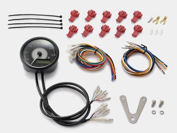 95954 デイトナ VELONA 電気式スピード&タコメーターφ80 ホワイトLED 140km/h ステンレスボディ 汎用