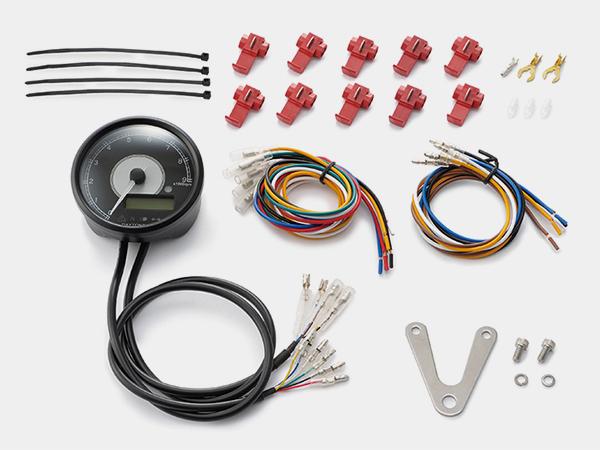 95955 デイトナ VELONA 電気式タコ&スピードメーターφ80 ホワイトLED 9000rpm ステンレスボディ 汎用