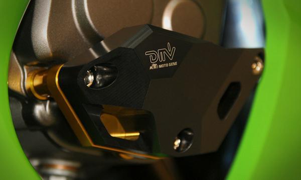 DIMOTIV エンジンプロテクトカバー R/右■ZX10-R チタン