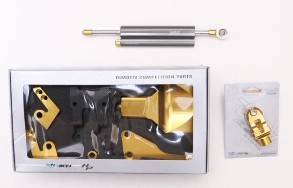 EG188-078C YSSステアリングダンパー(RACING TYPE)& DMK-YA-04(ゴールドorチタン) DIMOTIVマウントキット MT-07