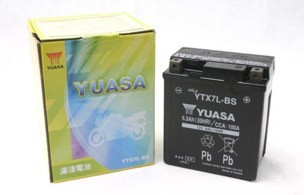 1年保証 (人気激安) 充電済 台湾ユアサ 40%OFFの激安セール バッテリー YTX7L-BS ジャイロ VTR ホーネット Dio110 CBR400RR リード110EX ナイトホーク250 Vツインマグナ