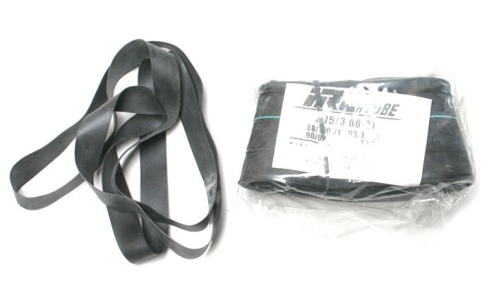 【当日発送】IRCタイヤチューブ+リムテープ 2.75-21 300-21 CRM250 XLR200R SL230