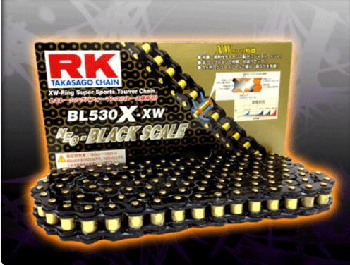 RKチェ-ン BL530X-XW-120 ブラック 530-120