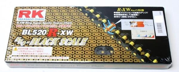 RKチェ-ン BL520R-XW-120 ブラック 520-120