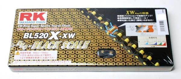 RKチェ-ン BL520X-XW-110 ブラック 520-110