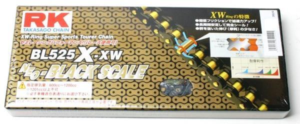 RKチェ-ン BL525X-XW-100 ブラック 525-100