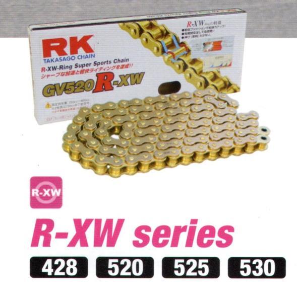 RKチェ-ン GV525R-XW130 ゴールド 525-130