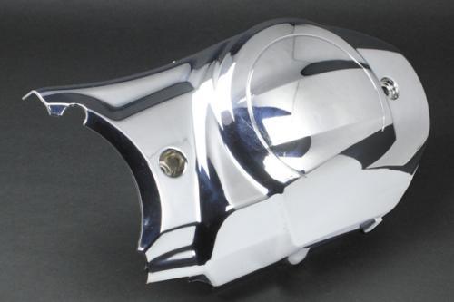 武川  クラッチカバー(ABS製/メッキ) マジェスティS