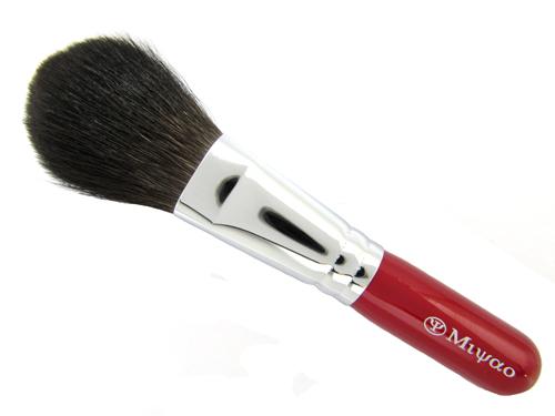 【 送料無料 】 フェイスパウダーブラシ 【灰リス100% (最高級品)】熊野化粧筆 熊野筆 灰リス 【包装 可・名入れ 可 】敏感肌の方にはよりお勧めです。ショートタイプ赤軸レッドパール 熊野筆 化粧筆 メイクブラシ 携帯用 ブランド 名入れ