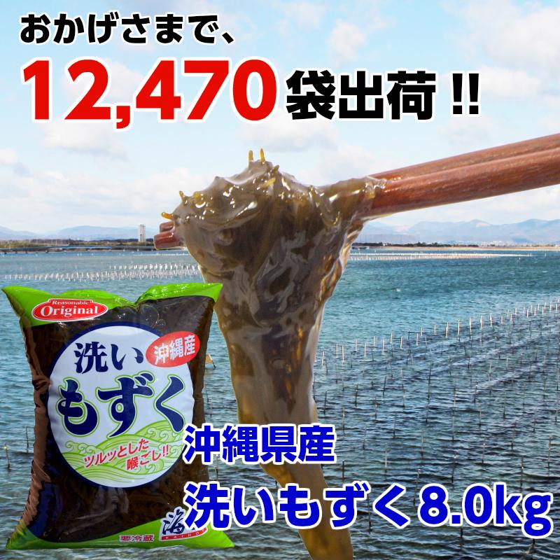 【冷蔵】磯屋 海宝 洗いもずく 沖縄県産 400g×20袋 (正味量130g×20袋)