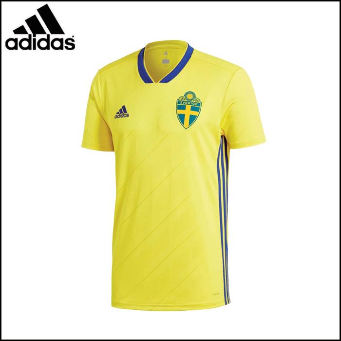 adidas/アディダス サッカー レプリカユニフォーム [dtr51-br3838 スウェーデン代表_ホーム_レプリカユニフォーム] レプリカ_スウェーデン代表_SWE/2018SS 【ネコポス対応】