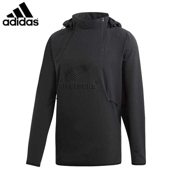 adidas/アディダス ラグビー トップス [flx83-dn5984 オールブラックスオールウェザージャケット] ジャケット_オールブラックス_フード付き 【ネコポス不可】