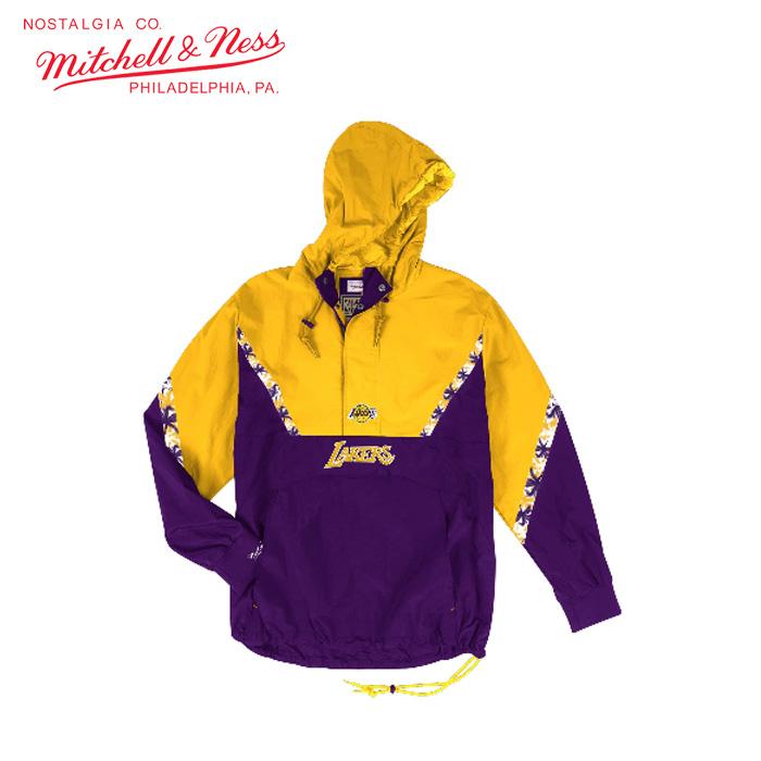 mitchell&ness/ミッチェルアンドネス バスケットボール トップス [hfzpmg18020-lalpurp1 Half_Zip_Anorak_Los_Angeles_Lakers] ハーフジップ_LosAngelesLakers_M&N 【ネコポス不可】