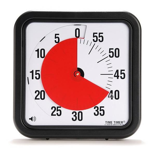 タイムタイマー Lサイズ ラージ(2個セット) 30cm TIME TIMER L 12 inch 【送料無料】夏休みの宿題 知育 療育に! 発達障害 PDD ADHD音アリ・音ナシ選べる大きいので見やすい 幼稚園 保育園 学童保育にも※沖縄・北海道・九州・離島は送料別です