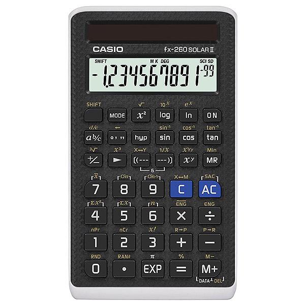 CASIO FX-260 FX260 SOLARII-S-IH ※パッケージなし【メール便のみ送料無料】fx-260 Solar 2 10+2桁 関数電卓並行輸入品※代引き・ニッセン後払いできません