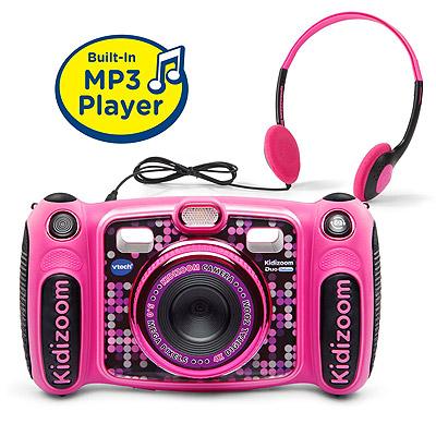 VTech Kidizoom Camera DUO 5.0 Deluxe ピンクDigital Selfie Camera with MP3 Player and Headphones Pink【送料無料】 訳あり:箱破損MicroSD対応 子供用トイカメラ キッズ用デジタルカメラMP3プレーヤー【平行輸入品】