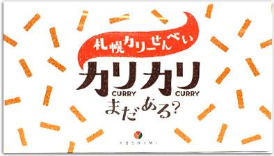 札幌カリーせんべい YOSHIMI カリカリまだある?18g×8袋入りJAL機内に掲載北海道限定ピリッと辛口 買物 毎週更新