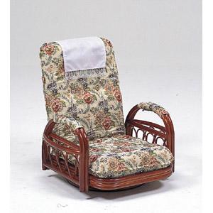 【送料無料!】ハギハラスリーアイ 籐ギア付回転座椅子ロータイプ RZ-921360度回転式で通気性のよい天然素材使用 背もたれギア式