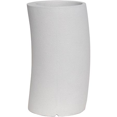 【送料無料!】大和プラスチック カーブ 33H型 ホワイト見る角度で表情を変える、遊び心のあるプランター