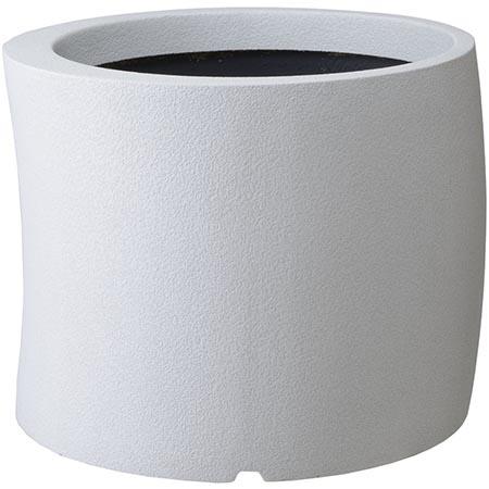 【送料無料!】大和プラスチック カーブ 50型 ホワイト見る角度で表情を変える、遊び心のあるプランター