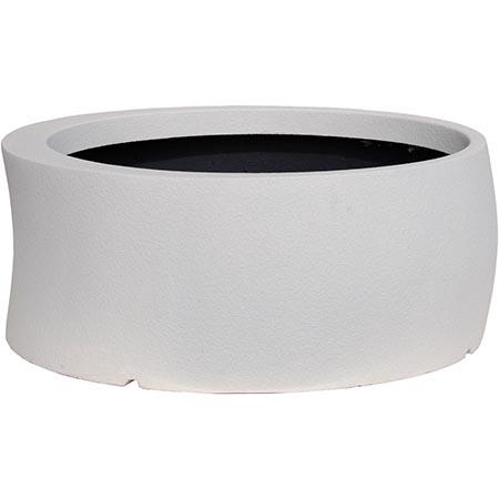 【送料無料!】大和プラスチック カーブ 82型 ホワイト見る角度で表情を変える、遊び心のあるプランター