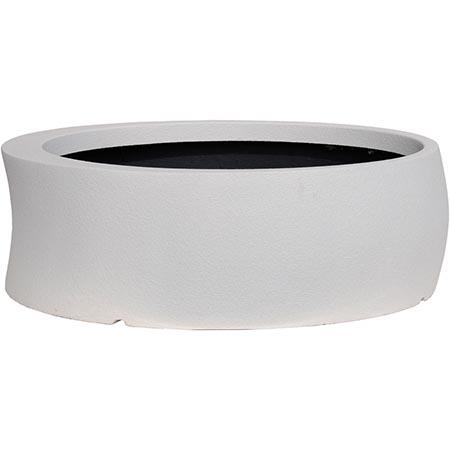 【送料無料!】大和プラスチック カーブ 100型 ホワイト見る角度で表情を変える、遊び心のあるプランター
