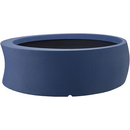 【送料無料!】大和プラスチック カーブ 100型 ダークブルー見る角度で表情を変える、遊び心のあるプランター