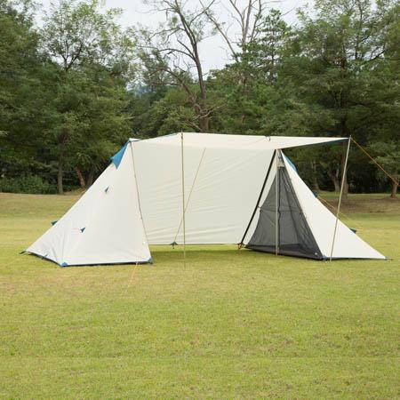 【送料無料!】BUNDOK 2ポールテント BDK-02設営簡単!ポール2本で自立、設営できる2ポールテント。