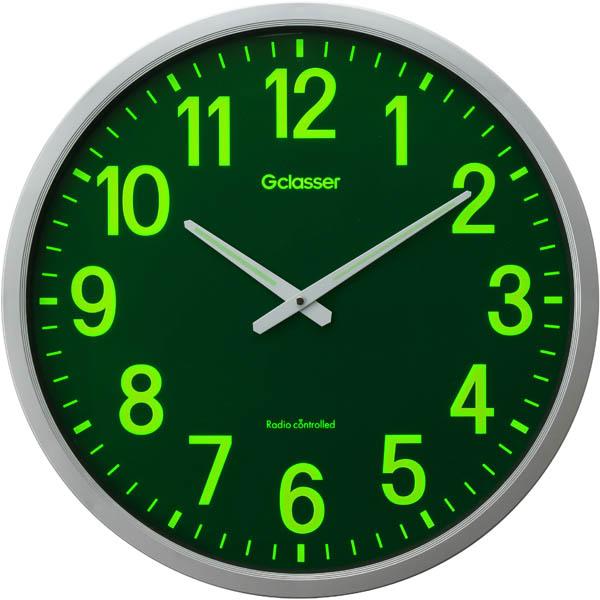 【送料無料!】キングジム 電波掛時計 ザラ-ジ 集光・蓄光文字盤、約50cm GDKS-001集光・蓄光機能により視認性アップ。