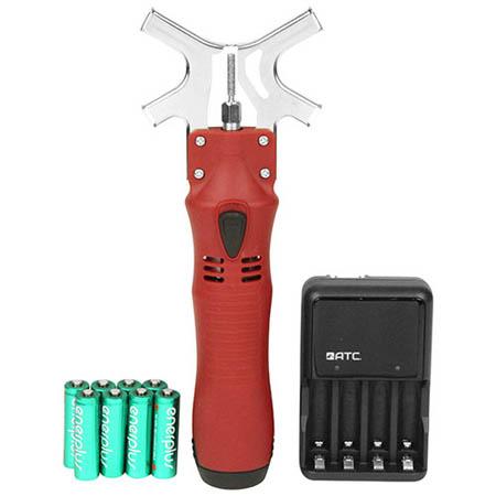 【送料無料!】ニシガキ チェンソー研研 電池充電器付 N-819簡単ガイドで誰でも正確研磨、屋外でも使えるチェンソー研磨機。
