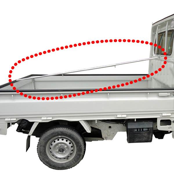 送料無料 アルミス アルミ製軽トラ荷台棒 贈物 ギフト 雨や雪を溜まりにくくする AKD-1419荷台に取り付けて