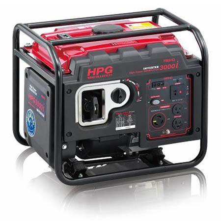 【送料無料!】ワキタ インバーター発電機 HPG3000iレジャーやDIY、非常用電源などあらゆるシーンで大活躍!