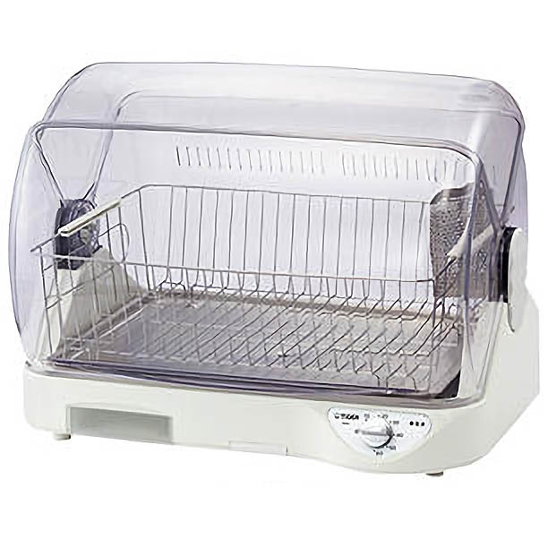【送料無料!】タイガー 食器乾燥機 サラピッカ 温風式 ステンレス製トレイ DHGS400-W高温熱風とAg抗菌加工フィルターで清潔な庫内
