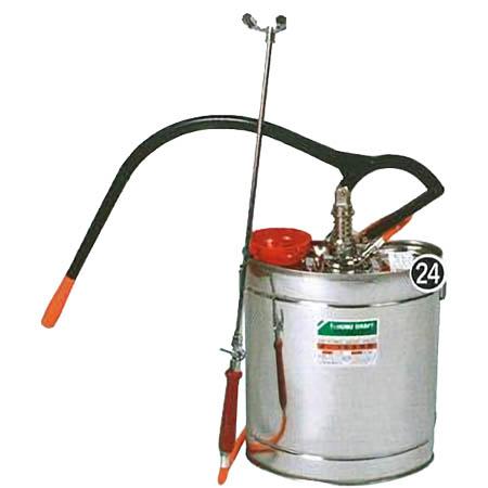 【送料無料!】 背のう半自動 18L 10型昔ながらのステンレス製背のう式半自動噴霧器です。