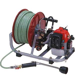 【送料無料!】 小型エンジン動噴 HEP-90RHM ホース20M・ホース巻付持ち運びにも便利な小型エンジン動噴です!