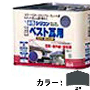 【送料無料!】ニッペ 水性シリコンベスト瓦用7L 銀黒塩害・紫外線・酸性雨に強い、高級かわら屋根用塗料。