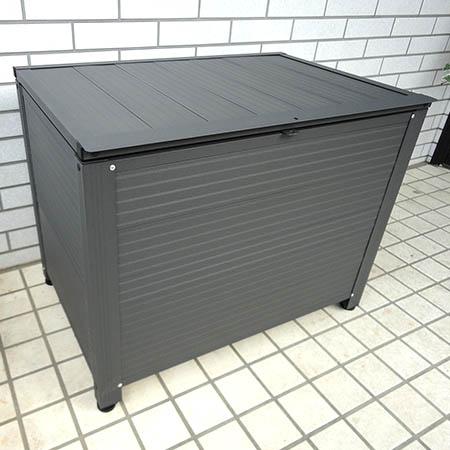 【送料無料!】(株)アルミス アルミ製ストッカーBOX 容量160L AS-7450GY錆びや雨風に強く、丈夫で軽い、耐久性抜群のストッカーBOX!