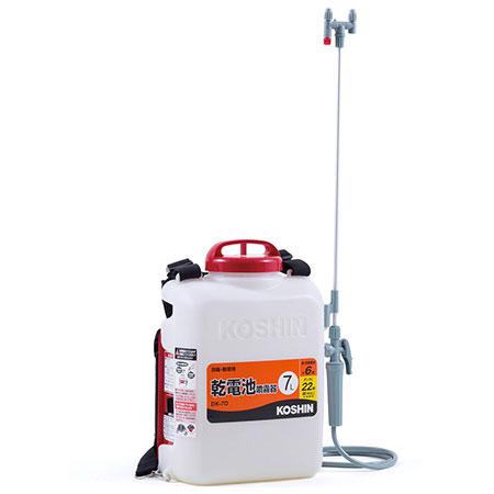 【送料無料!】工進 乾電池式噴霧器 DK-7D 7Lとにかく簡単な電池式背負噴霧器