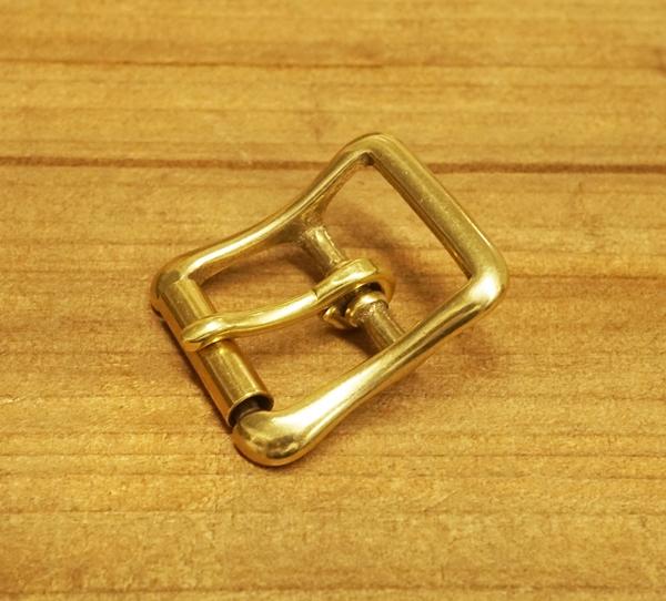 21mm ローラー付バックル 未使用 安心の定価販売 ブラス 真鍮生地