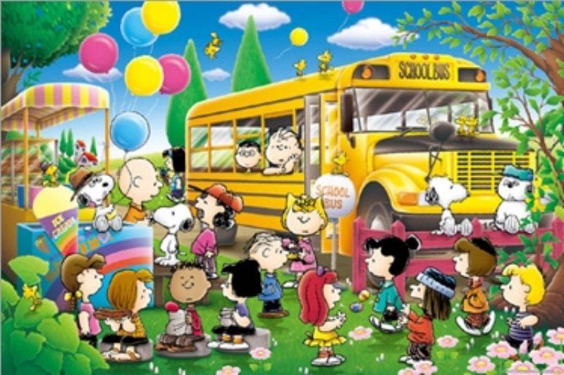1000ピースジグソーパズル PEANUTS/スヌーピー・スクールバス 《廃番商品》