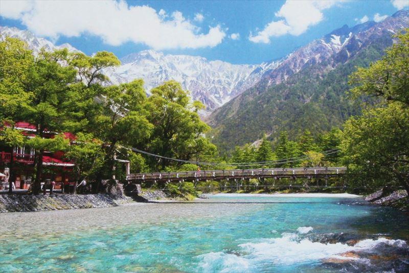 450スモールピースジグソーパズル 河童橋と穂高連峰-長野 《廃番商品》