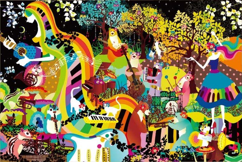 450スモールピースジグソーパズル 星降る夜のコンサート(ホラグチカヨ) 《廃番商品》